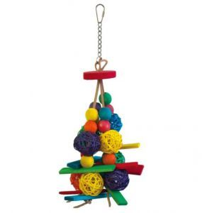 Wicker Ball Slats Bird Toy