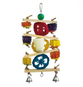 Loofah Tumble Medium Bird Toy