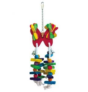 Butterfly Blocks Bird Toy With Lollipop Sticks
