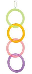 4 Acrylic Hoops -Acrylic Parrot Toy
