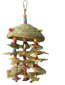 Birdie Beach Hut Medium Bird Toy
