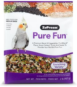 Zupreem Pure Fun Medium Bird Food 2lb