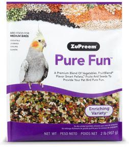 Zupreem Pure Fun Medium Bird Food 2lb