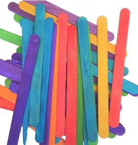 Coloured Lollipop Sticks Pack 50