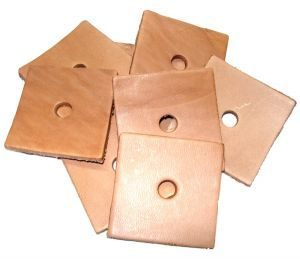 Pack of 10  Leather Squares - Parrot Toy Making Parts 2