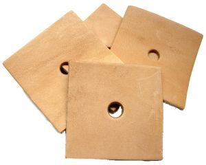 Pack of 10  Leather Squares - Parrot Toy Making Parts 3