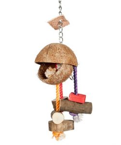 Coconut Man Foraging Bird Toy