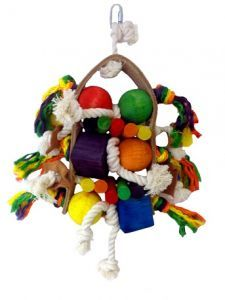 Leather Loop Large Bird Toy