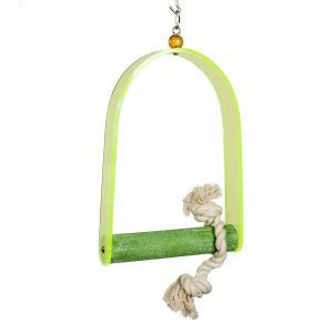 Acrylic Arch Bird Swing Medium