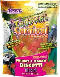 Tropical Carnival® Zoo-Vital® Parrot & Macaw Biscotti Treat 8oz