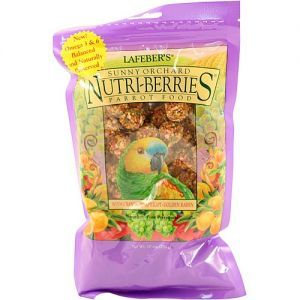 Lafeber NutriBerries Sunny Orchard Complete Parrot Food 284g
