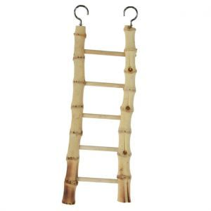 Natural Bamboo 5 Step Bird Ladder