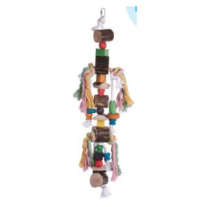 Tumble Down Wood & Rope Bird Toy - 70cm
