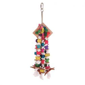 Crazy Diamond Wood & Leather Bird Toy