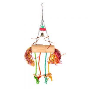 Bamboo Coconut Swinger Bird Toy