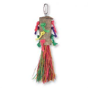 Raffia Rocket Natural Bird Toy