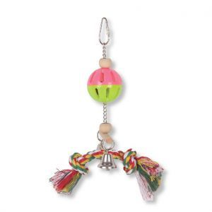 Rattle N Rope Small Bird Toy