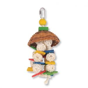 Wicker Squid Small Bird Toy