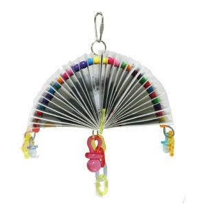 Beaded Fan Card Bird Toy