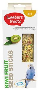 Tweeter's Treats Seed Sticks for Budgies -Kiwi- Pack of 2