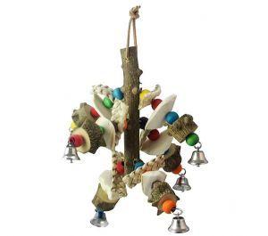 Pepper Wood Cuttlefish Medium Parrot Toy