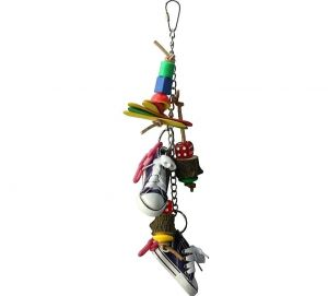 Pieces Of Eight Bird Toy With Sneaker Shoes