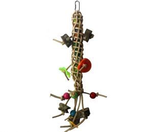 Leather Stick Forager Bird Toy