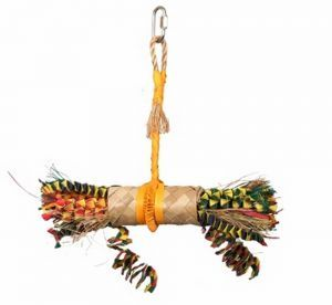 Buri Wrap Buri Leaf Large Parrot Toy