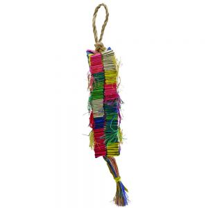 Oblong Cube Medium Abaca Bird Toy