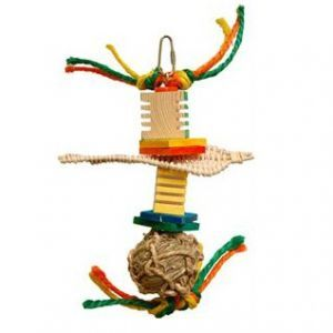 Boo Boo Seagrass & Wood Bird Toy