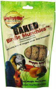 OVEN FRESH BIRDIE MUNCHIES PARROT TREAT - VEGGIE DELIGHT 4OZ