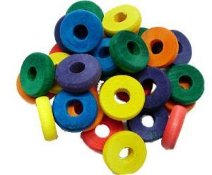 Coloured Wood Discs - Toy Making Part - Pack 30
