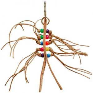 Gumby - Small Bird Toy With Paper Rope