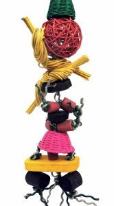 Skater Boy Shreddable Wicker Bird Toy