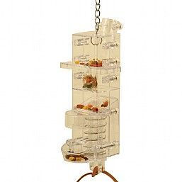 Tug N Slide Foraging Tower Bird Toy