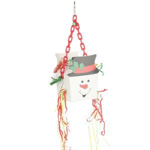 Snowman Fun Foraging Box On Hanging Chain