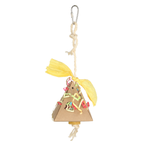 Paper Pyramid Small Shredding Foraging Bird Toy