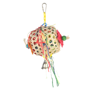 Crinkle Barrel Shreddable Bird Toy
