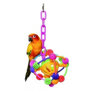 Plastic Space Ball Large Bird Toy