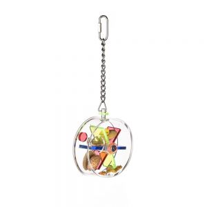 Acrylic Hanging Foraging Wheel - Small Bird