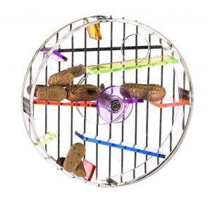 Acrylic Foraging Wheel Large Bird Toy
