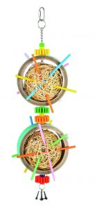 Straw Teaser - Bagel Bird Toy