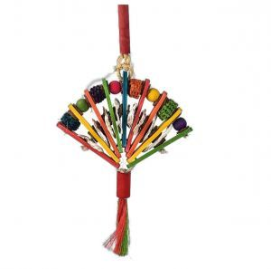 Bamboo Fan - Wood & Corn Bird Toy