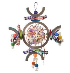 Space Station Large Finger Trap Bird Toy