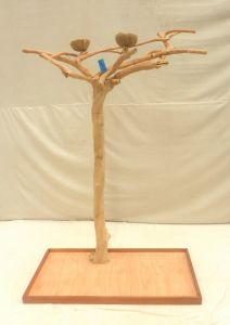 JAVA TREE - MEDIUM - NATURAL HARDWOOD PARROT PLAYSTAND BM50155