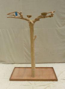 JAVA TREE - MEDIUM - NATURAL HARDWOOD PARROT PLAYSTAND BM50308
