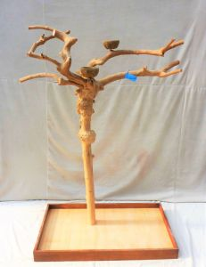 Java Tree - Medium - Natural Hardwood Parrot Playstand BM5250