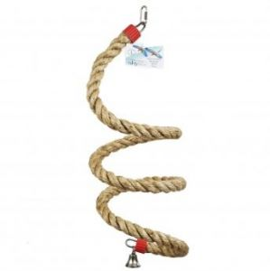 Natural Sisal Boing Rope Bird Toy