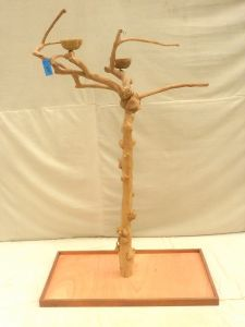 JAVA TREE - SMALL - NATURAL HARDWOOD PARROT PLAYSTAND BS40245