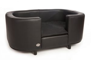 Chester & Wells Hampton Small Black Dog Bed